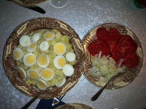 Potato Salad and fresh tomatoes