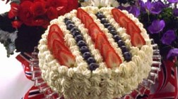 17th of May cake decorated with the national colors