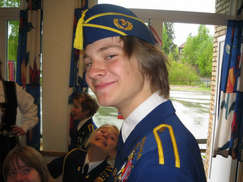 The coolest drummer in Eikeli School Band (My son Kyle 2007)