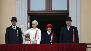 Norwegian Royal Family greeting the parade